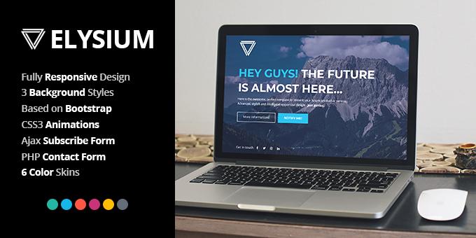 Elysium Responsive Coming Soon Template