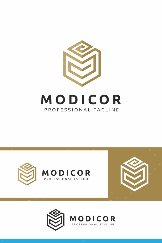 Modicor M Letter Logo