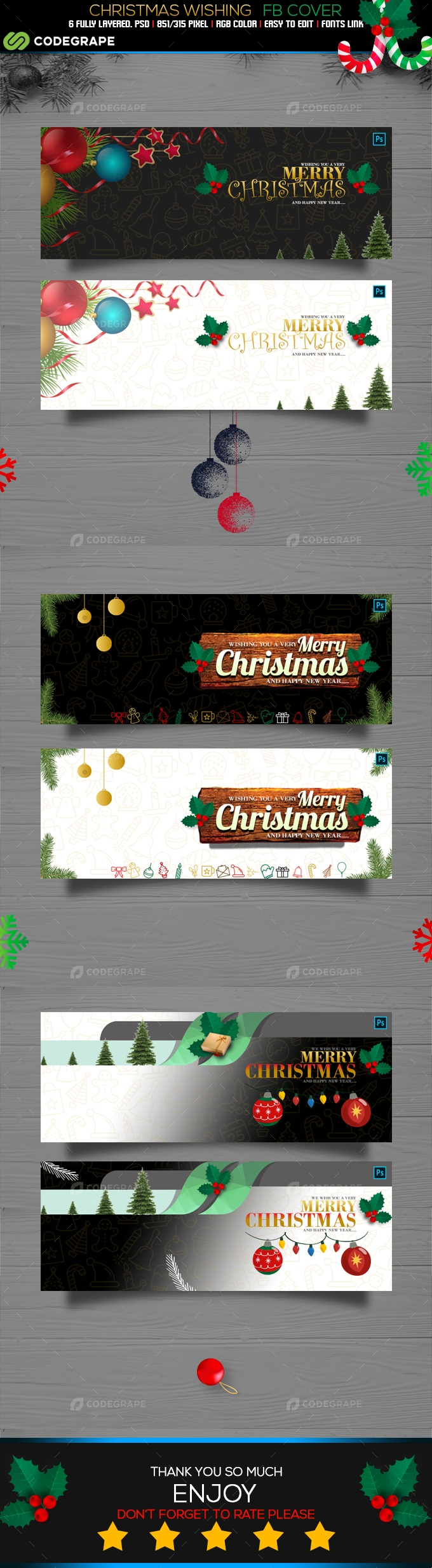 Christmas Wishing Facebook Cover