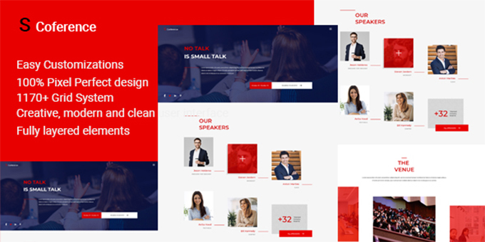 S Conference - Conference PSD Template