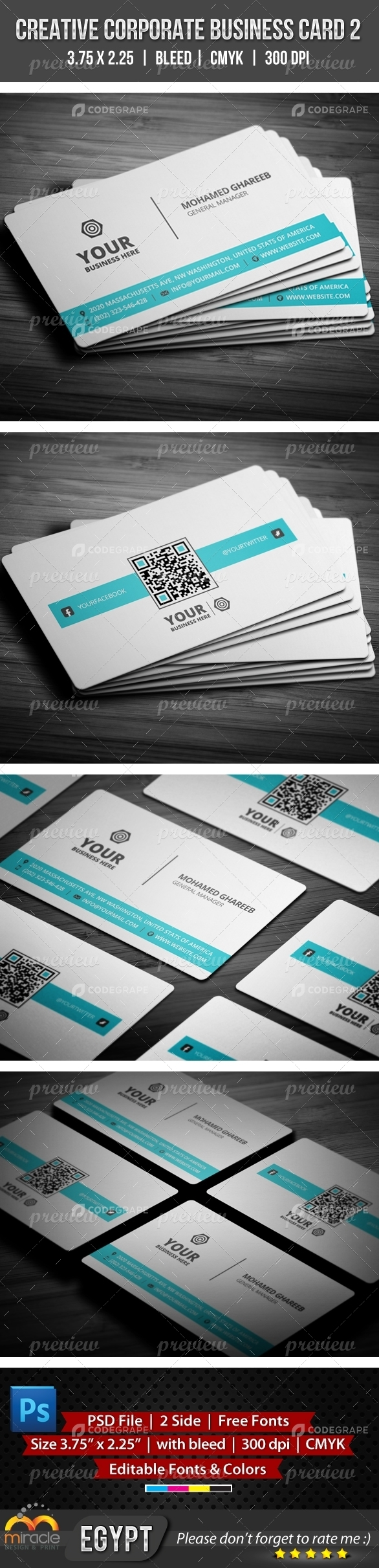Creative Corporate Business Card 2