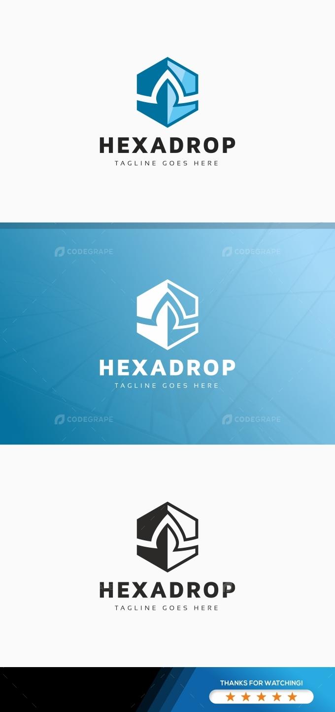 Hexagon Drop Logo