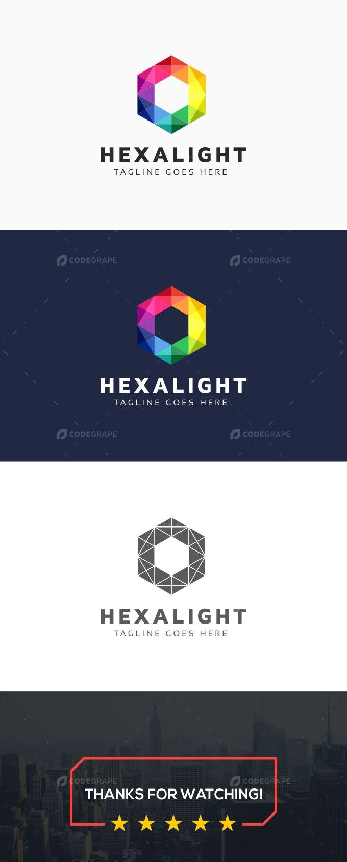 Hexagon Light Logo