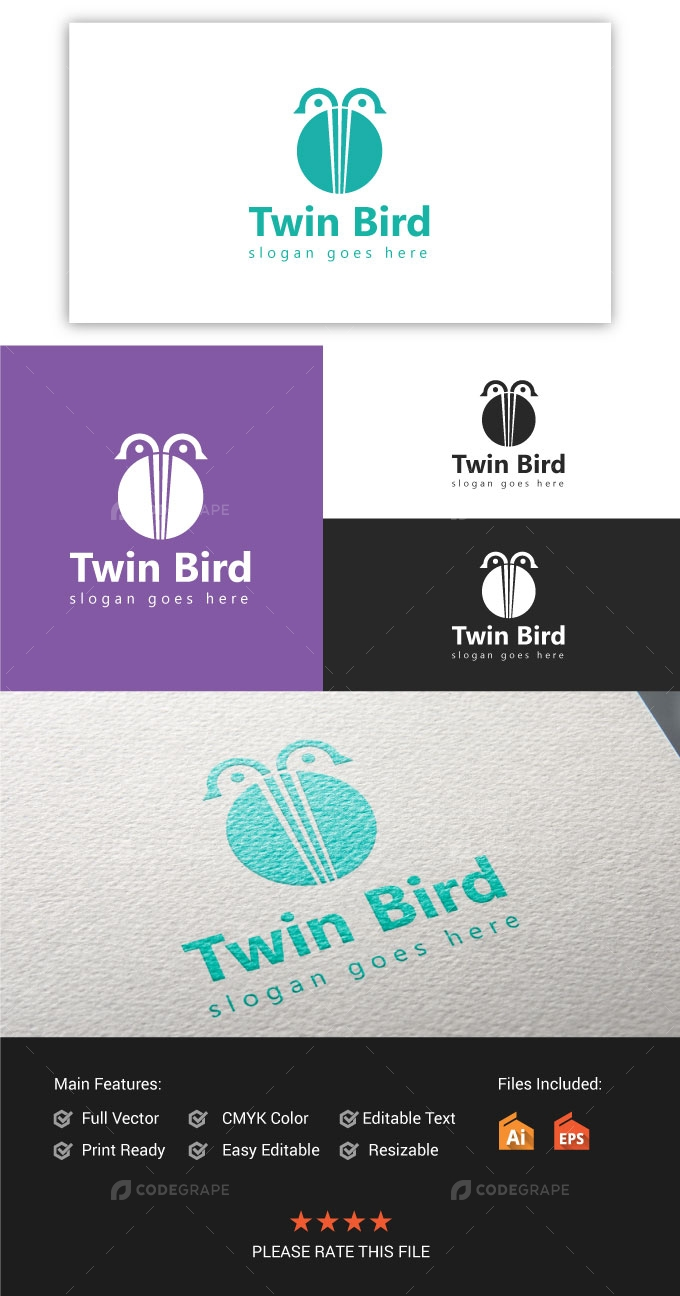 Twin Bird Logo
