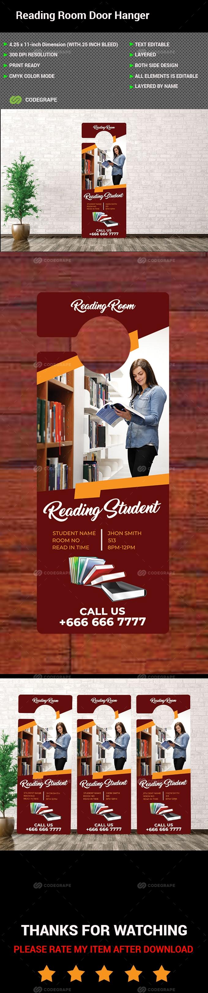 Reading Room Door Hanger