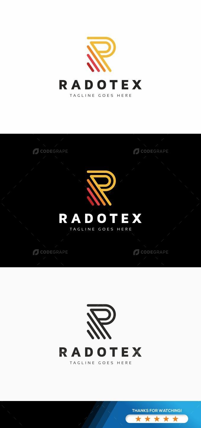 Radotex R Letter Logo