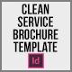Clean Service Brochure Template