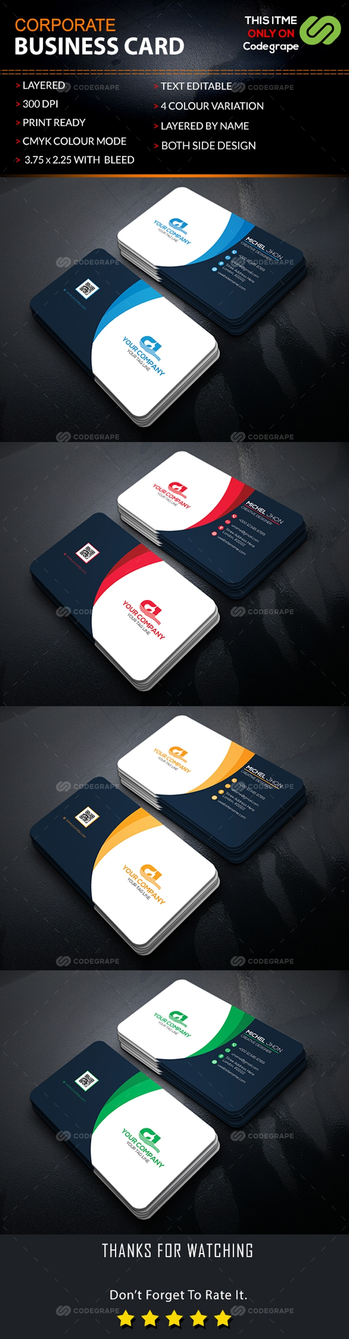 Mordern Corporate Business Card
