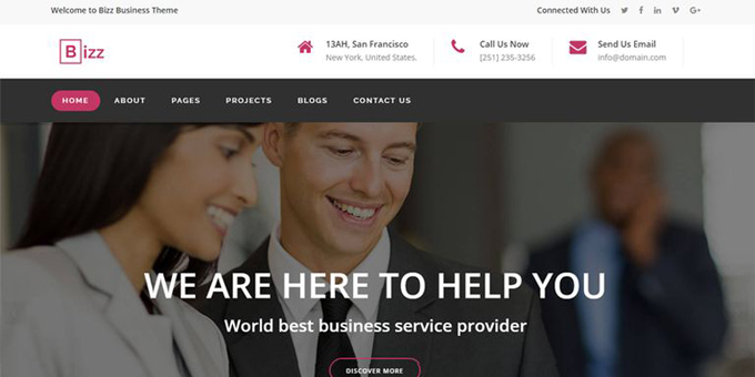 Bizz - Business & Corporate HTML Template