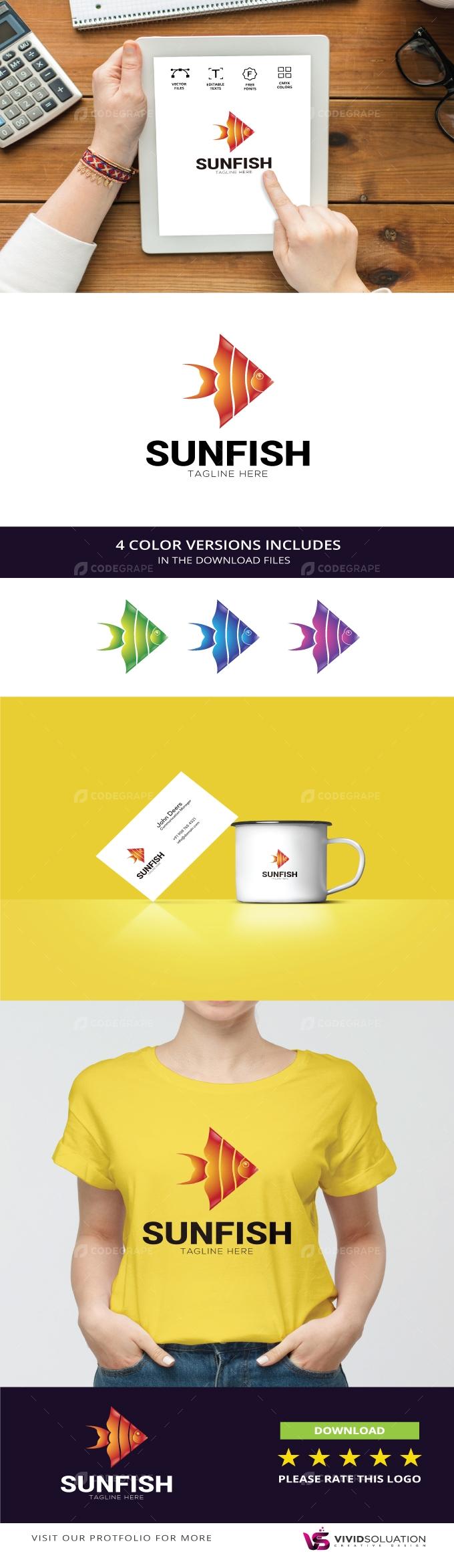 Sunfish Logo Design