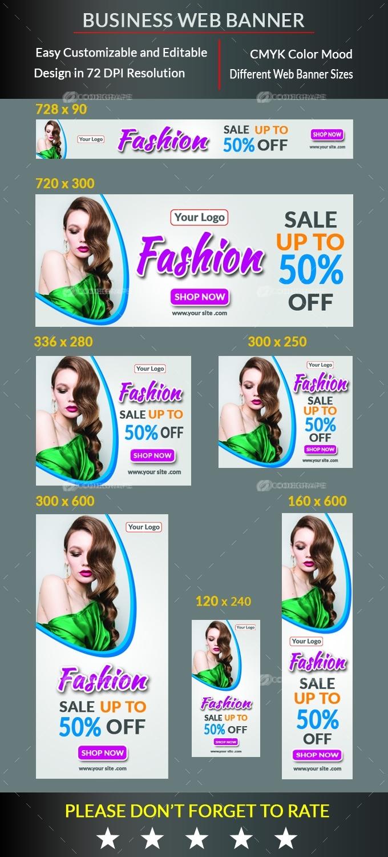 Sale Offer Fashion Web Banner