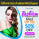 Sale Offer Fashion Web Banner