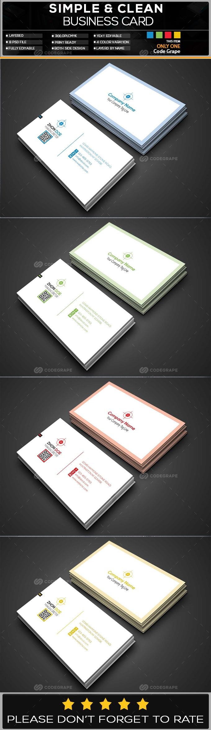 Corporate Business Card - 001