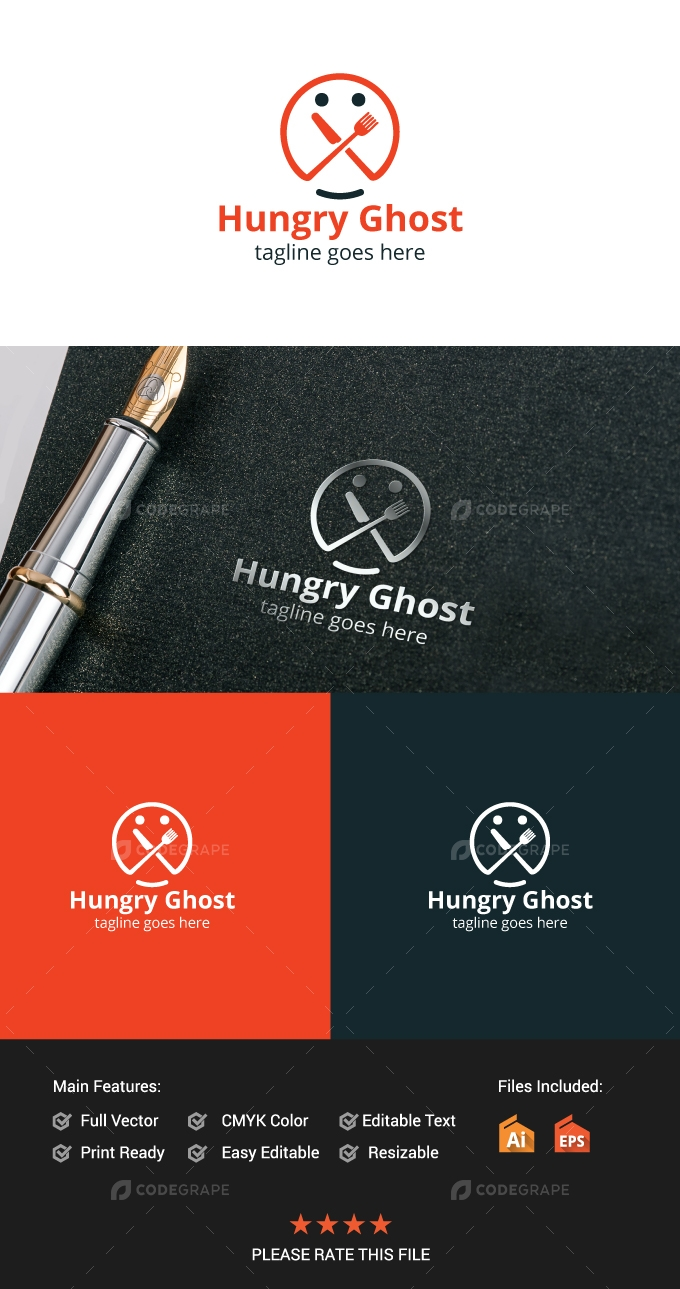Hungry Ghost Restaurant Logo