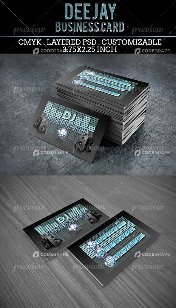 DJ Business Card 2