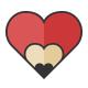 Love Pencil Logo Template