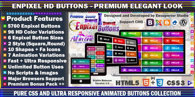 Enpixel - Responsive Mega Buttons Pack - Pure CSS