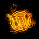 Social Media Icons on Fire