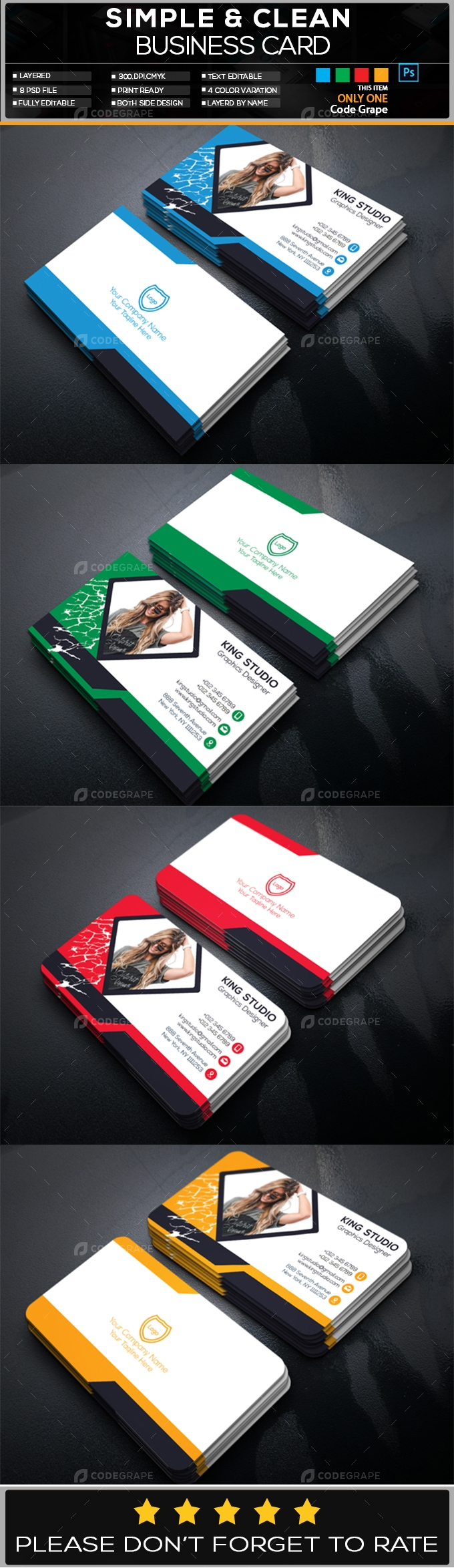 Photography Business Card Vol - 6