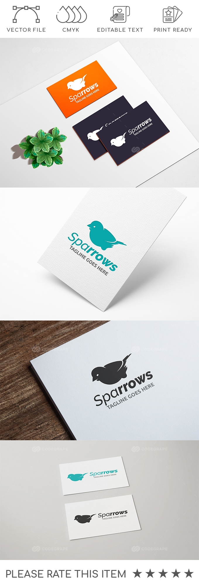 Sparrows Logo Design