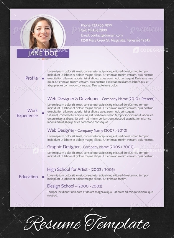 purple modern resume