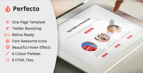 Perfecto - One Page HTML Template
