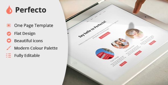 Perfecto One Page PSD Template