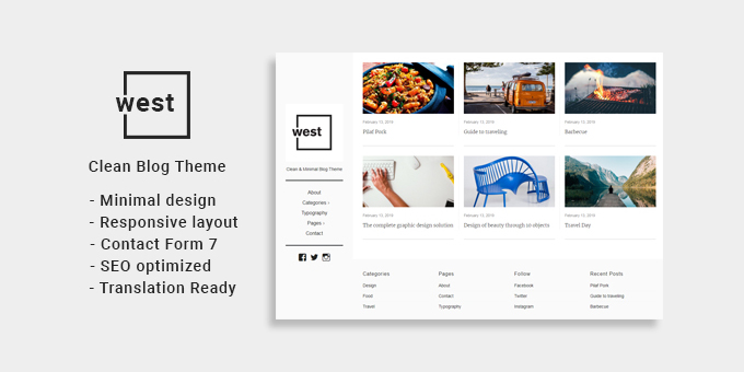 One West - Clean & Minimal WP Theme