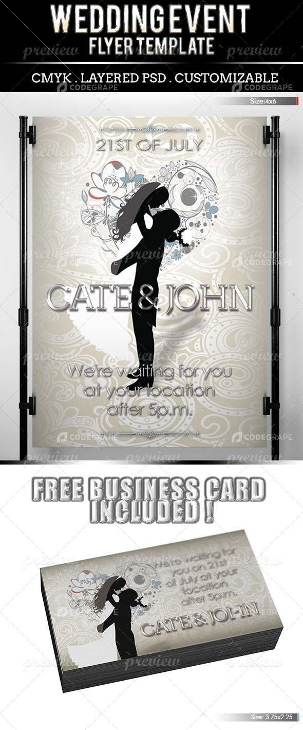 Wedding Event (Business Card Free Included)