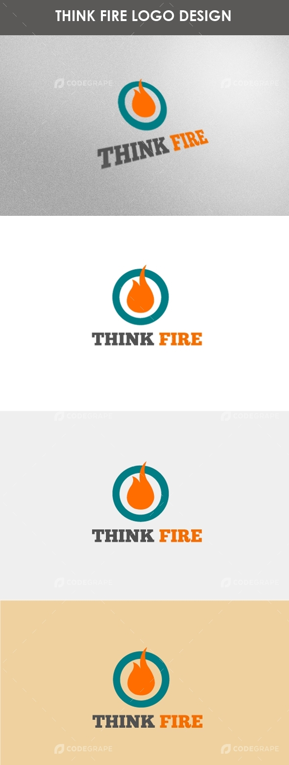 Think Fire Logo Design