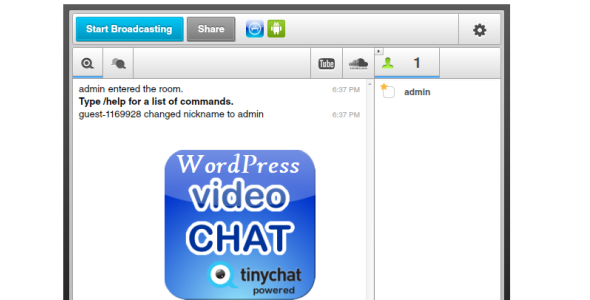 Wordpress Text - Video Chat