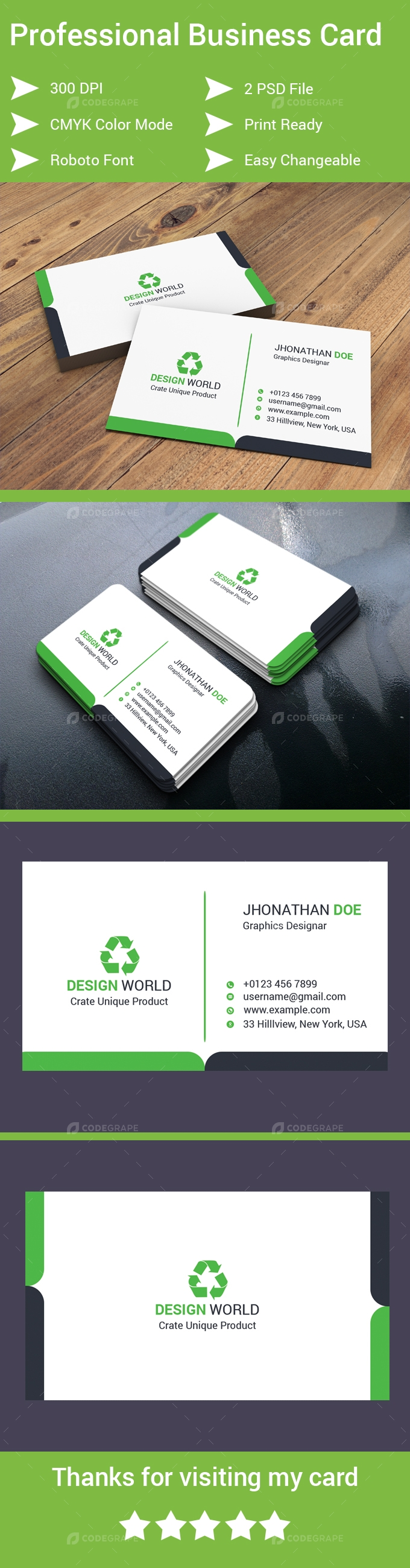 ff89b324da2d4 Professional Business Card - Print