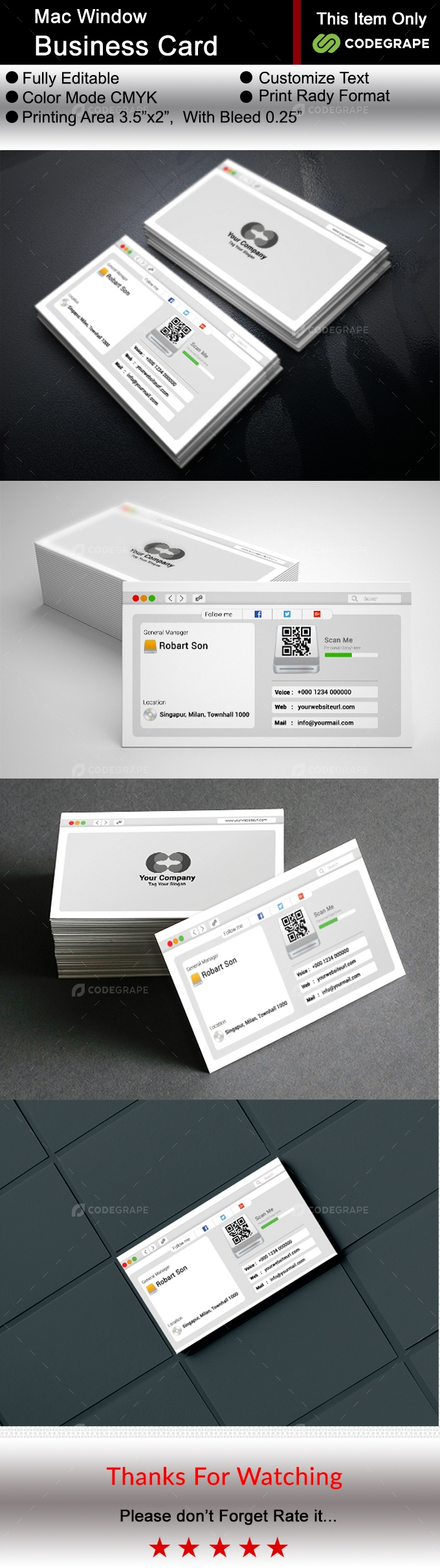 Mac Window Business Card