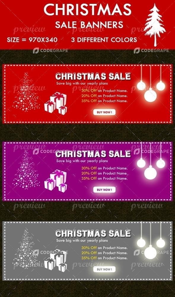 Christmas Sales Banner Graphics Codegrape