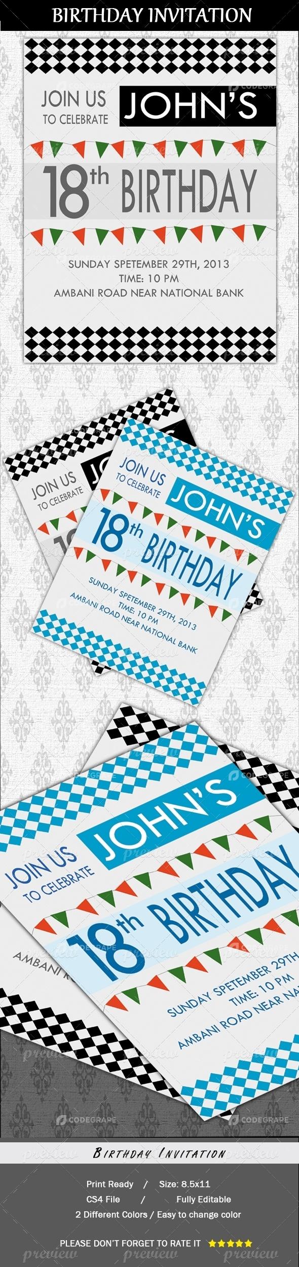 Birthday Party Invitation Cards