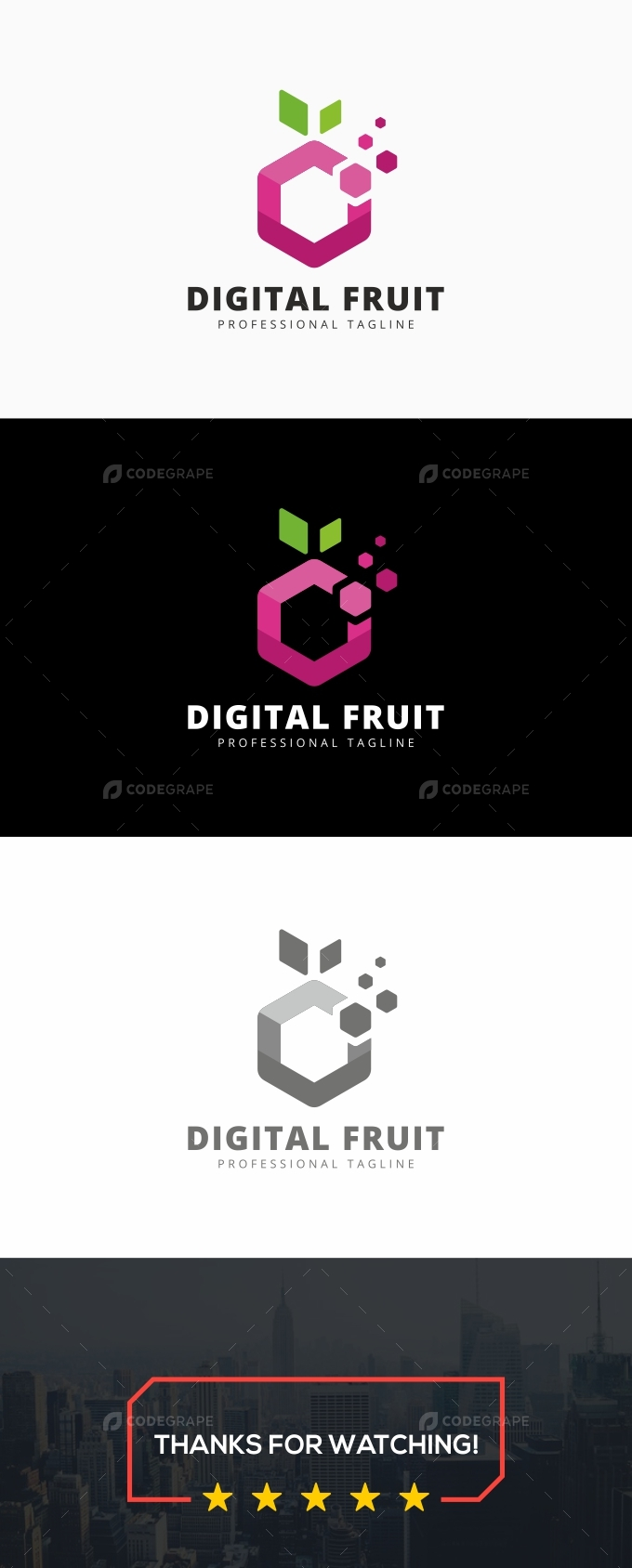 Digital Fruit Logo