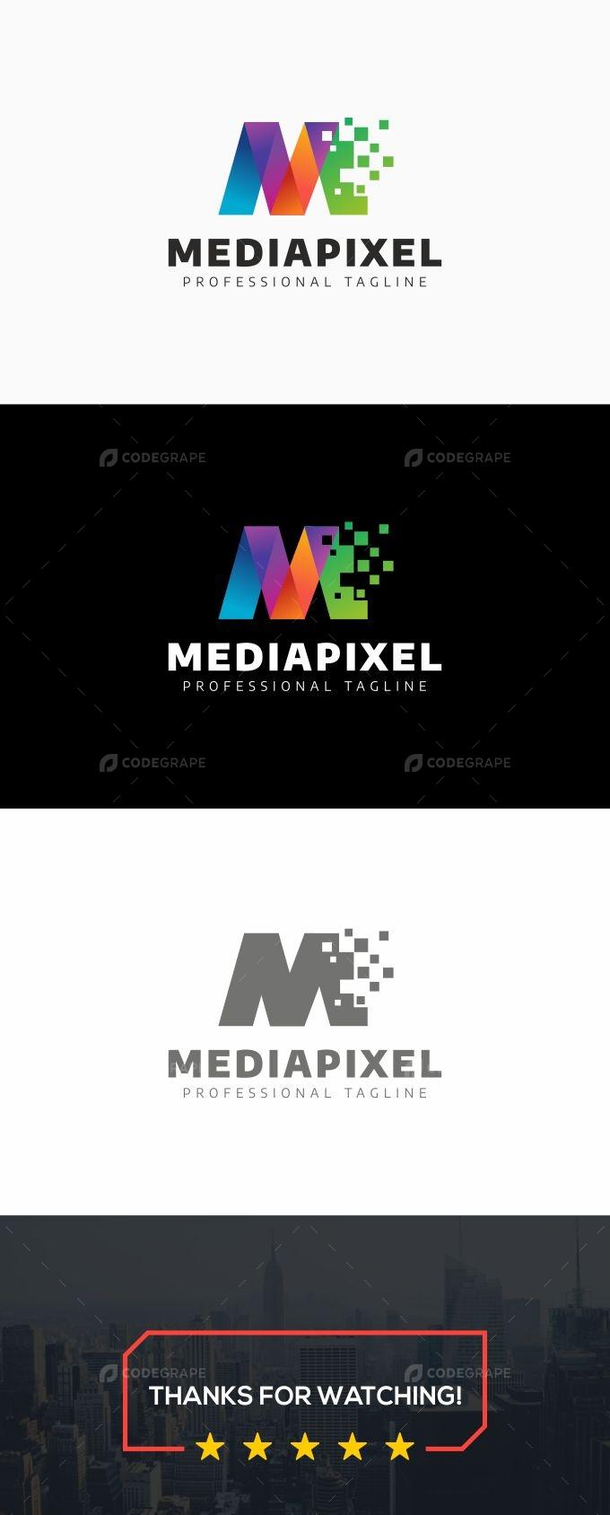 M Letter - Mediapixel Logo