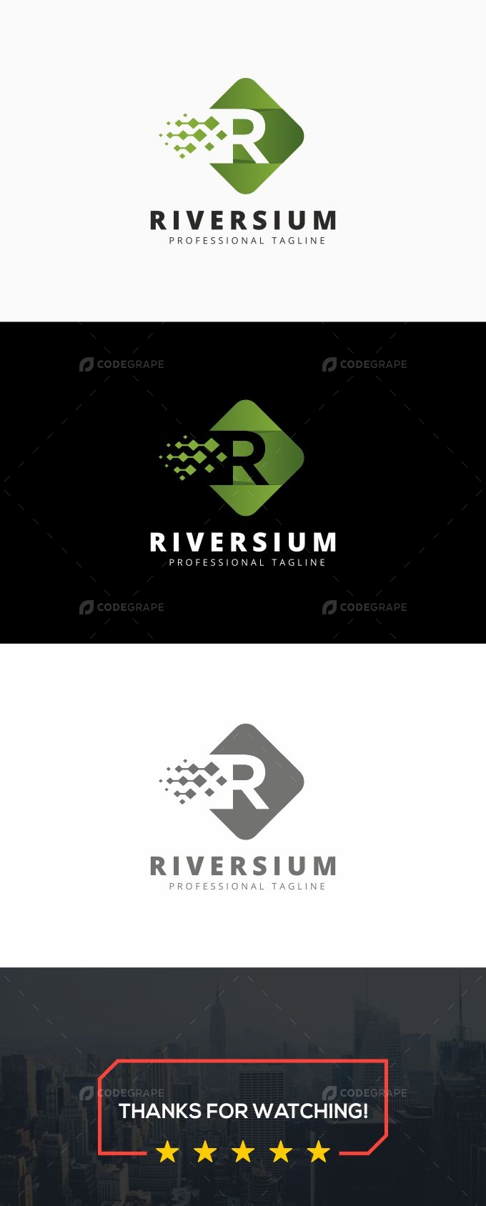 R Letter - Riversium Logo