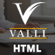Valli - Corporate and Business One Page Responsive HTML Template