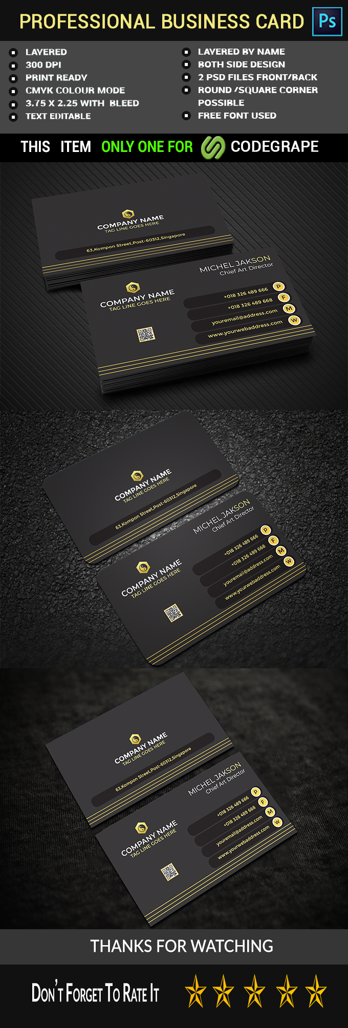 Professional Creative Business Card