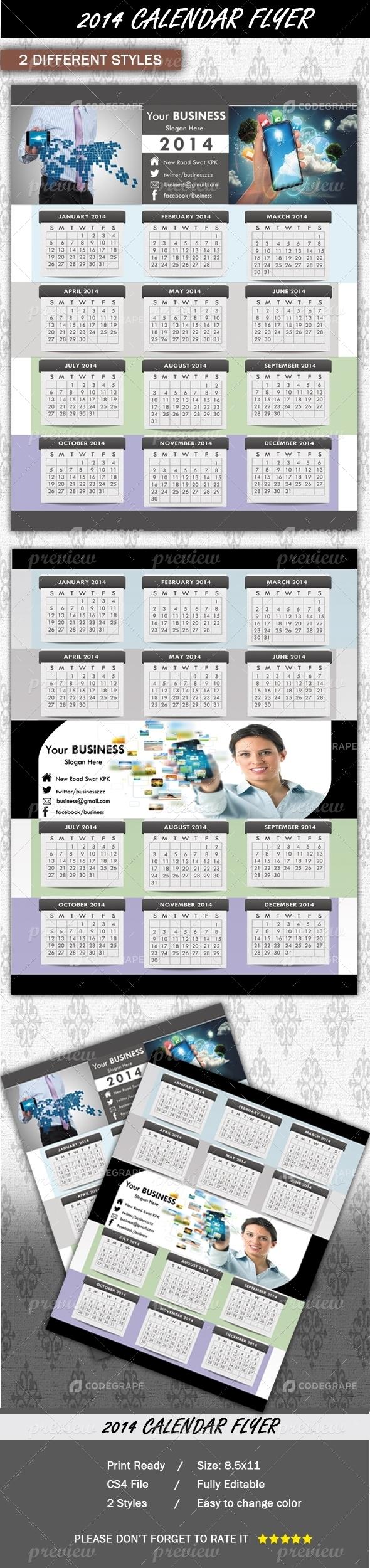 Calendar 2014 Flyer
