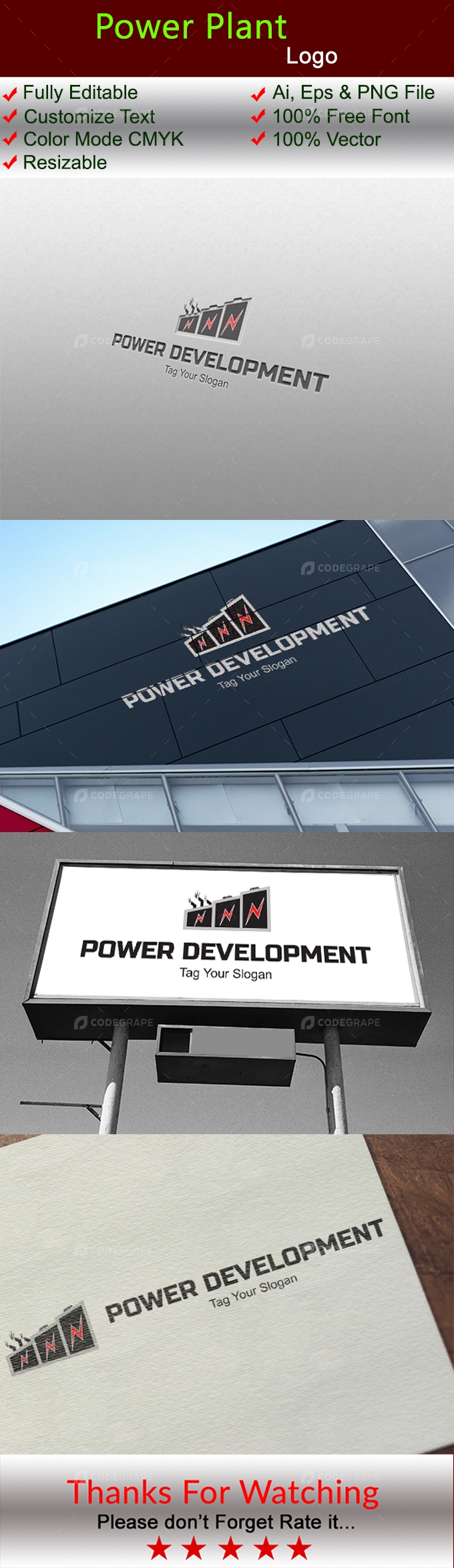 Power Plant Logo Template