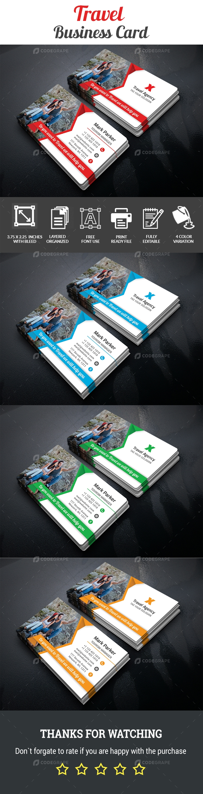 Corporate Travel  Business Card