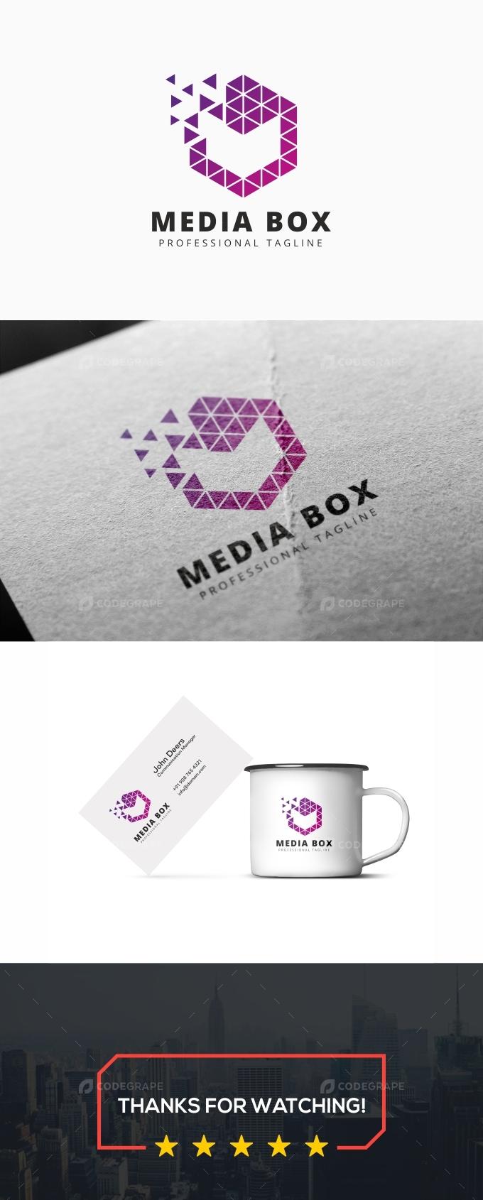 Media Box M Letter Logo