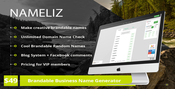 NameLiz - Brandable Business Name Generator