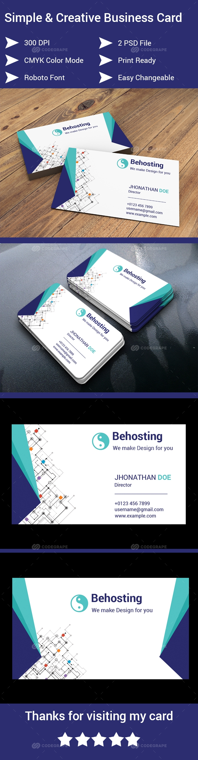 Behosting Business Card