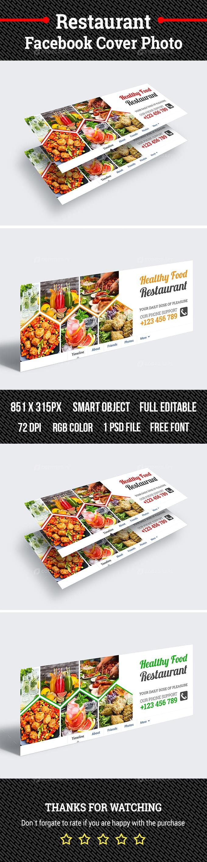 Restaurant Facebook Cover Photo