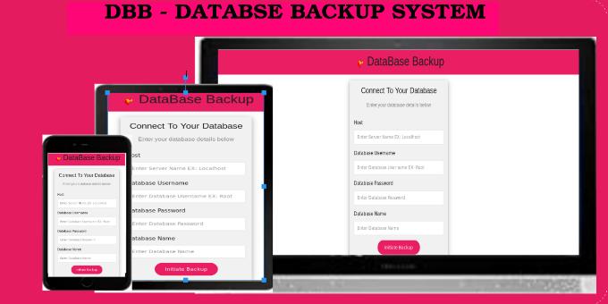 DBB - DataBase Backup System
