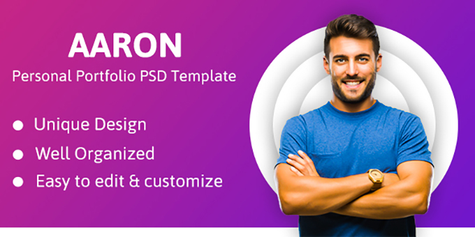 Aaron - Personal Portfolio PSD Template