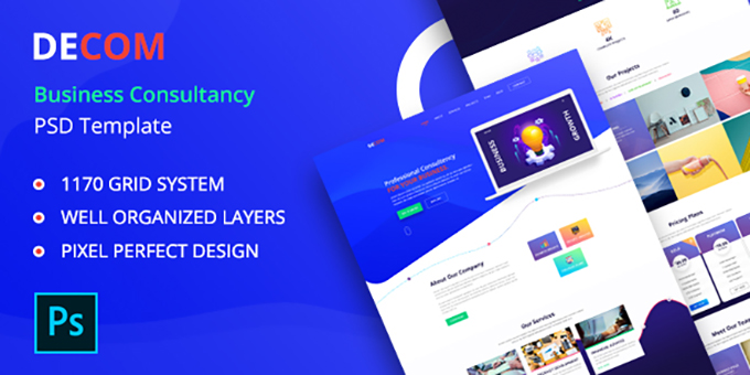 Decom - Business Consulting PSD Template
